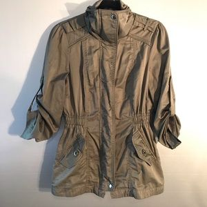 Forever 21 Military Green Combat Jacket Cargo Coat